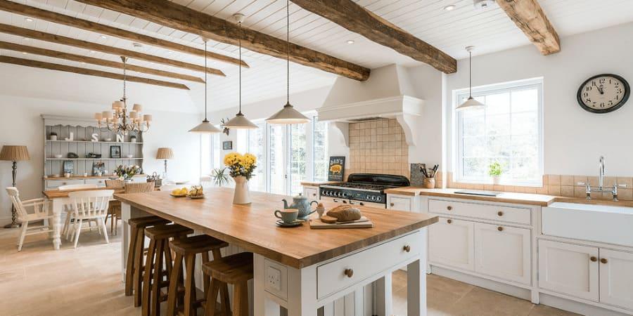 Farmhouse wood accent kitchen