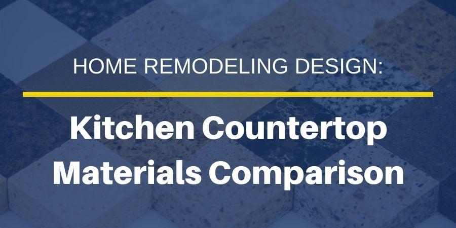 Kitchen Countertop Materials Comparison