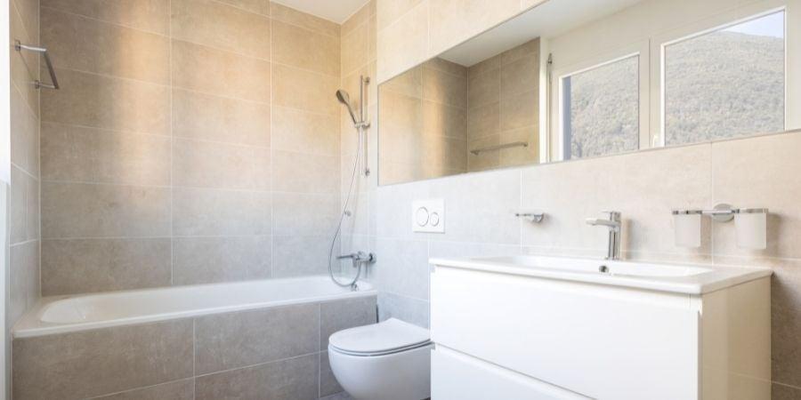 Large Bathroom Tile in New Jersey Bathroom Remodel