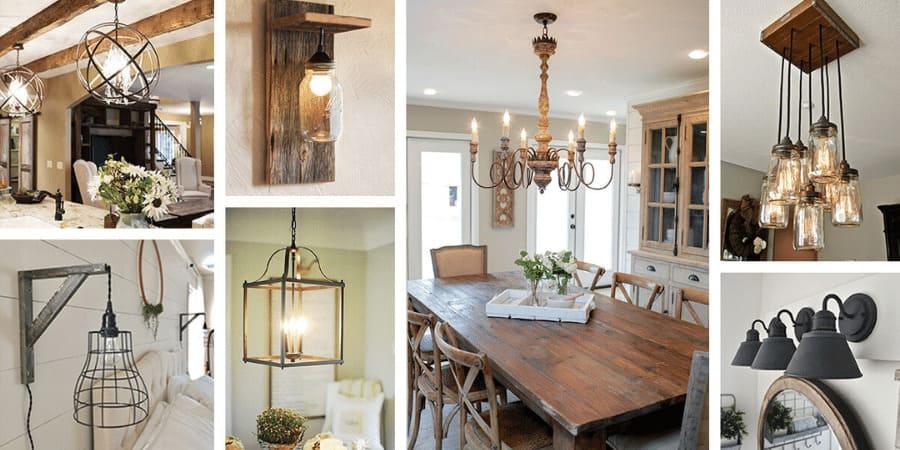 farmhouse style lighting fixtures