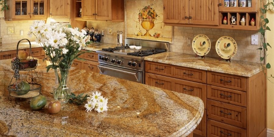 french country style granite kitchen countertops