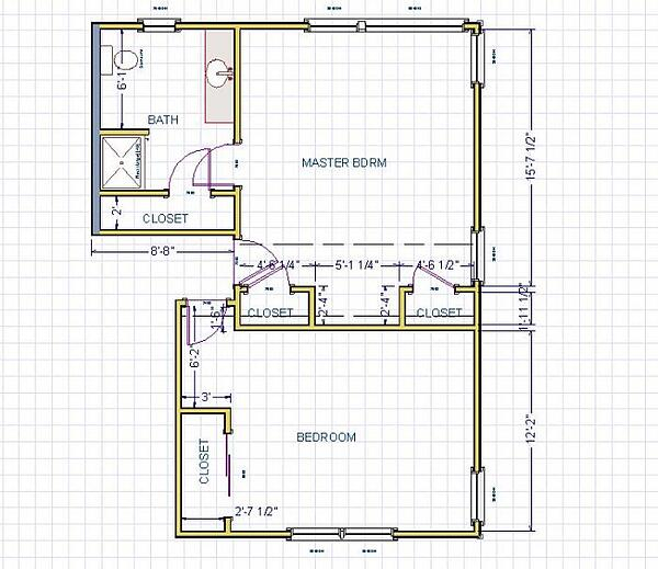 BEFORE - Master Suite Floor Plans for Remodel in New Jersey