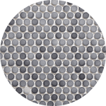 Penny round tile for bathroom remodel in New Jersey