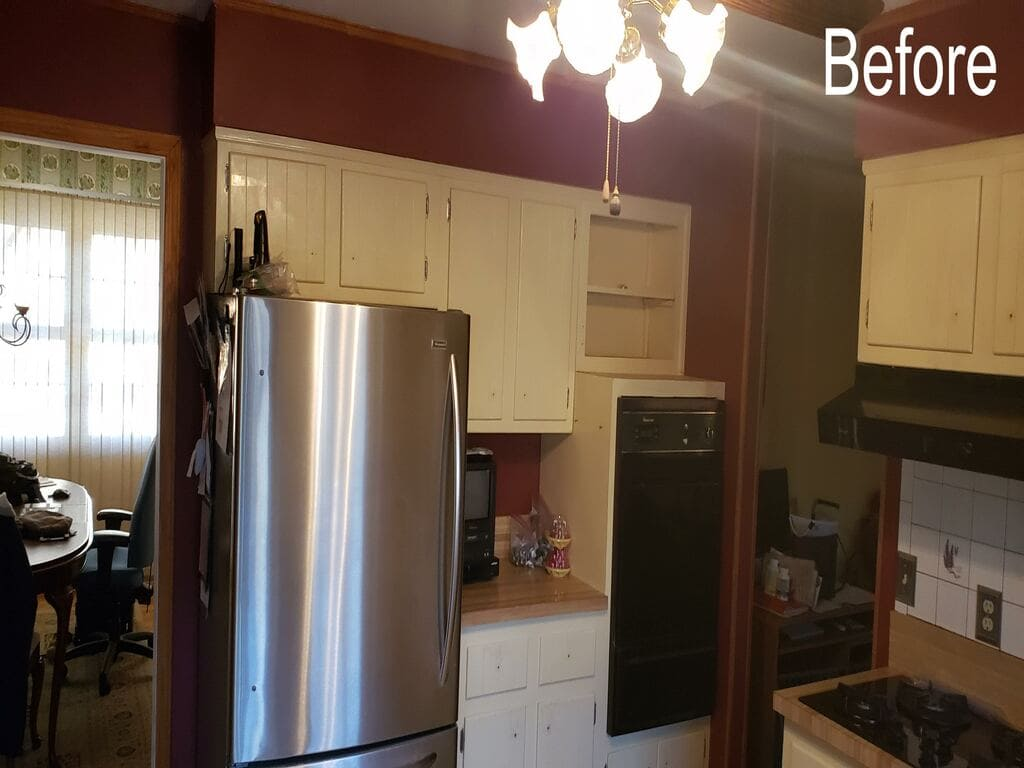 BEFORE White Kitchen Remodel in Randolph NJ renovated by JMC Home Improvement Specialists