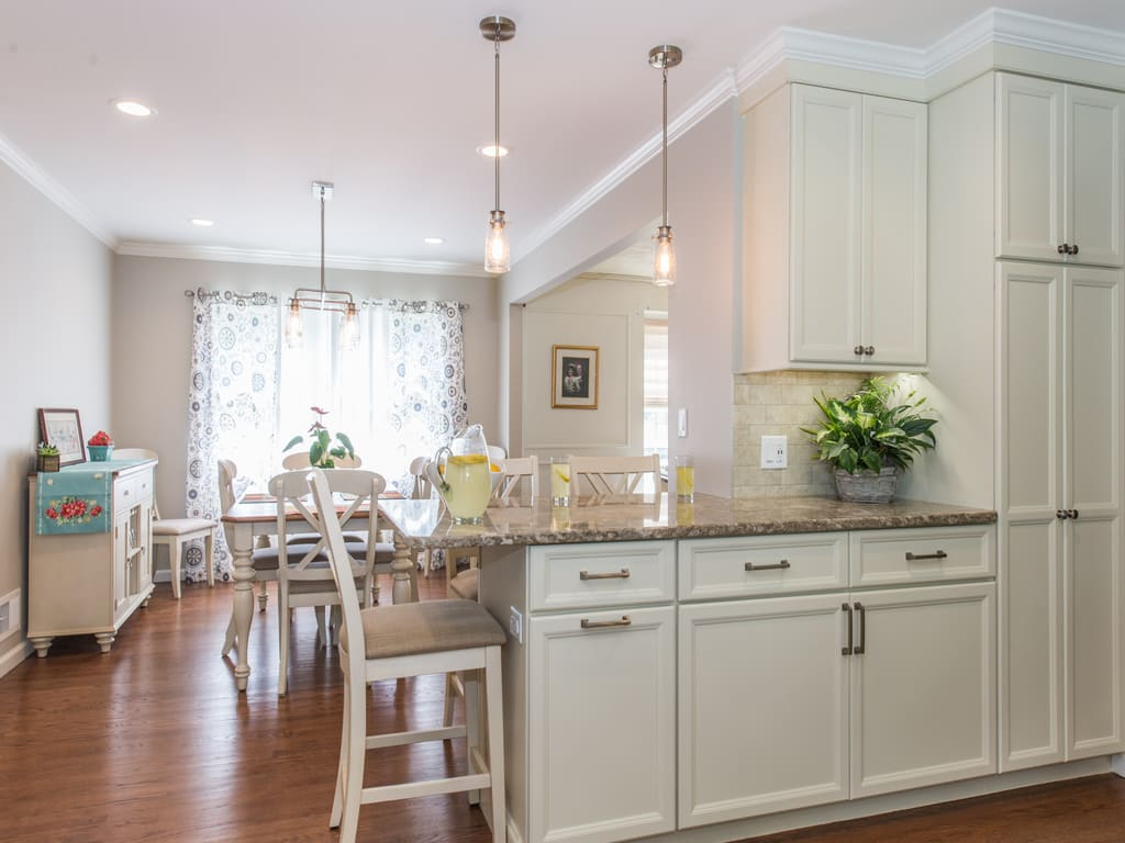 AFTER White Kitchen Remodel in Randolph NJ renovated by JMC Home Improvement Specialists