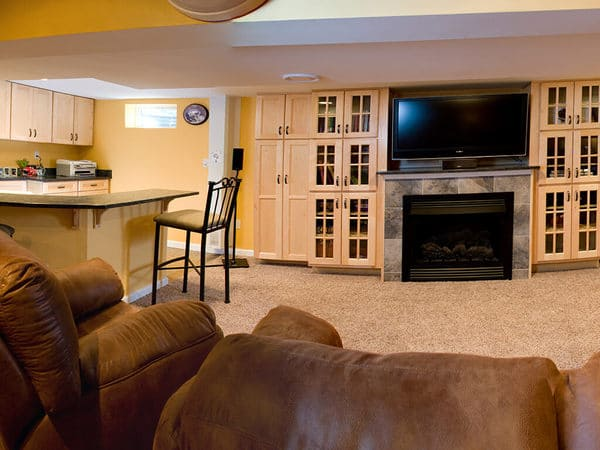 NY Giants Inspired Basement Remodel in New Jersey 2