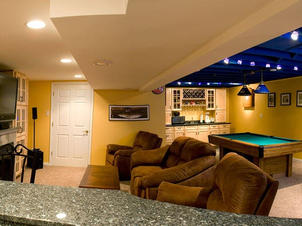 NY Giants Inspired Basement Remodel in New Jersey 3