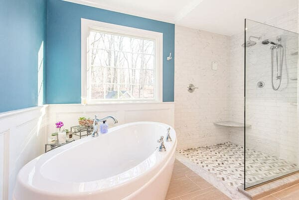 Blue and White Bathroom Remodel in New Jersey final-12-9