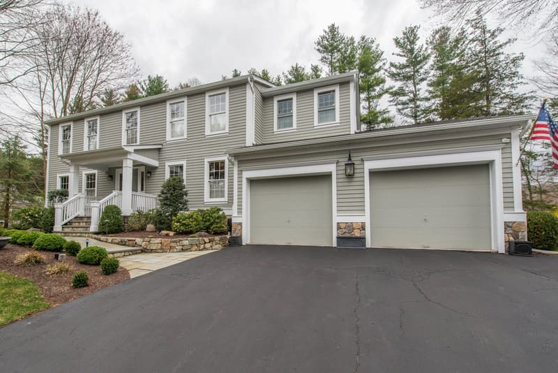 Boonton New Jersey Exterior Closet Addition Over Garage remodeled by JMC Home Improvement Specialists