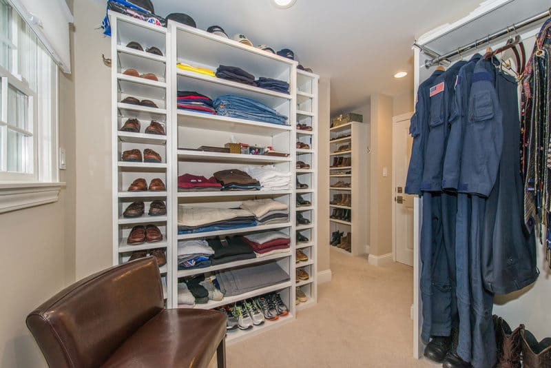 His and her custom Closet remodel in Boonton New Jersey Exterior Closet Addition Over Garage Boonton New Jersey remodeled by JMC Home Improvement Specialists