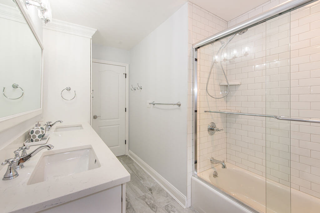 White Hall Bath Remodel with Shower In Morris Township New Jersey Renovated by JMC Home Improvement Specialists
