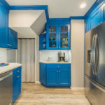 Blue Kitchen Remodel