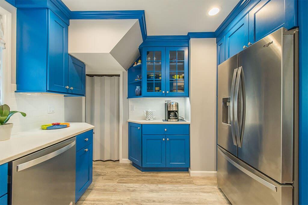 Blue Kitchen Remodel