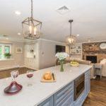 Open Concept White Kitchen in Denville